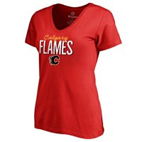 Calgary Flames Women's Nostalgia T-Shirt - Red