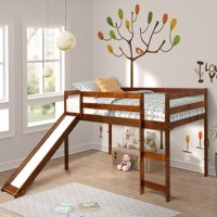Harper&Bright Designs Wood Twin Loft Bed with Slide, Multiple Colors