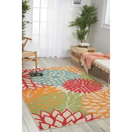 Nourison Aloha Indoor-outdoor Floral Green Area Rug ()