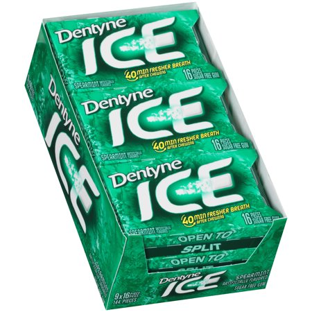 Dentyne Ice Spearmint, 16 Count (Pack of 9) ()