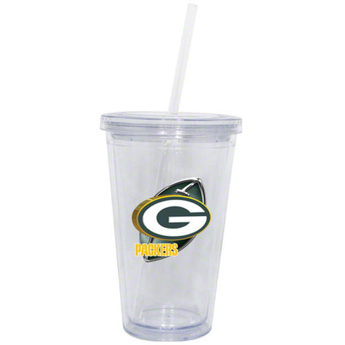 NFL - Green Bay Packers Double Wall Tumbler with Straw