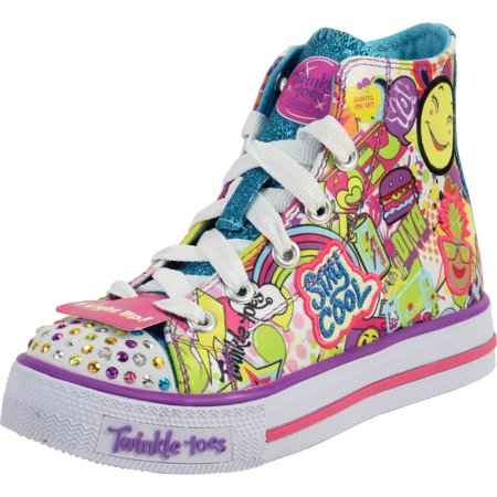 Skechers Girl's Twinkle Toes Trendy Talk Multi Light Up Sneakers