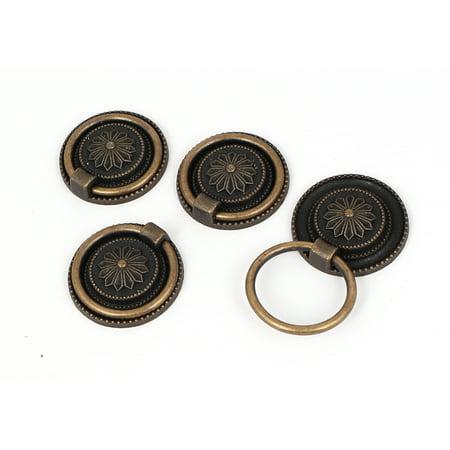 - Cabinet Drawer Door Metal 3cm Diameter Round Ring Pull Handles 4pcs