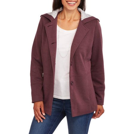 Climate Concepts Women's Soft & Cozy Fleece Jacket with Sherpa Fleece Collar