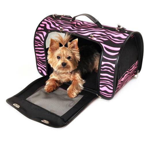 Simplydog, Black Pink Zebra Dome Carrier