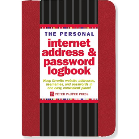 The Personal Internet Address   Password Logbook  Red   Other