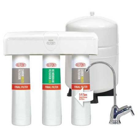 Dupont Quicktwist 3 Stage Reverse Osmosis Water Filtration System With Faucet