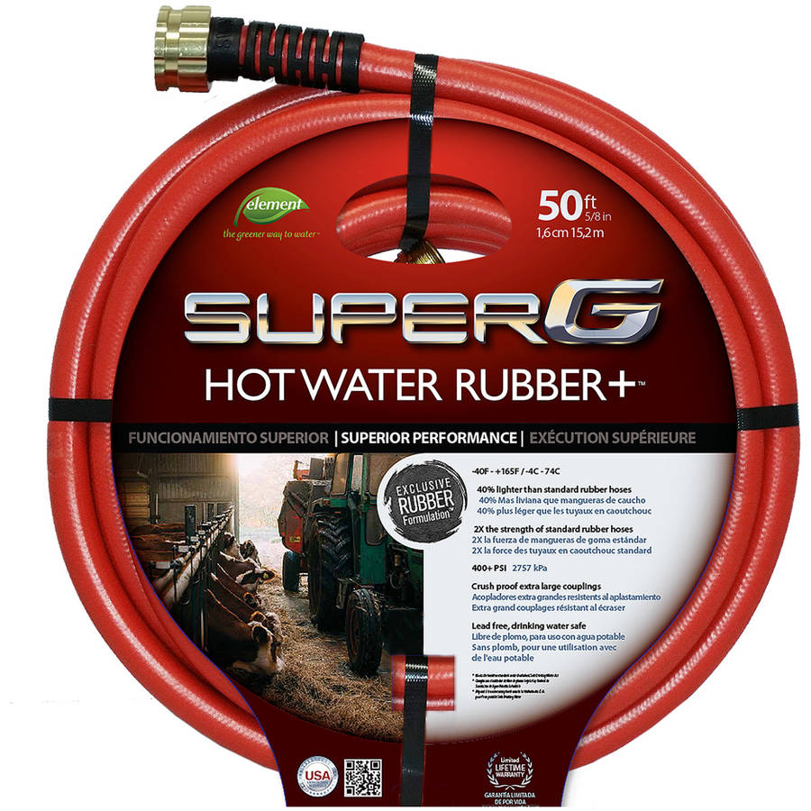 "Swan Hose CELSGHW58050 50' x 5 8"" Red Hot Water Garden Hose by Generic"