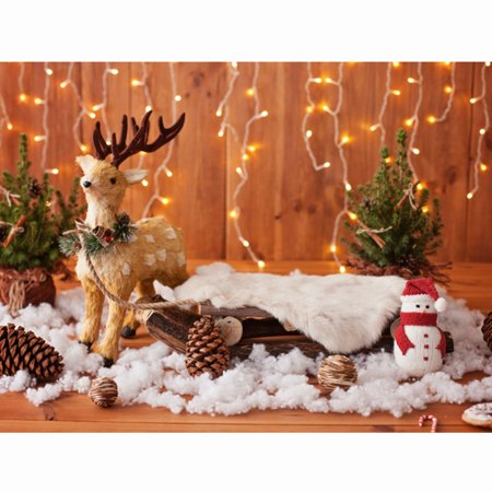 NK 7x5ft(210cmX150cm) Christmas Backdrops Photography Back Drop Christmas Deer Bokeh Stars and Snowman Backgrounds for Children Photo Professional Photography Studio - Photobooth Back Drop