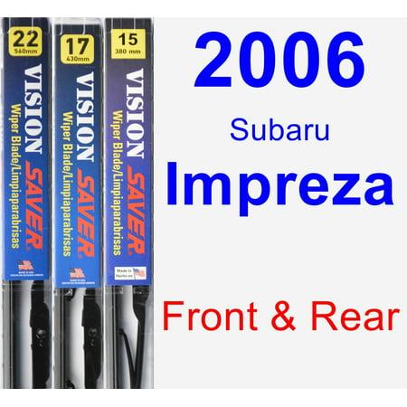 2006 Subaru Impreza Wiper Blade Set/Kit (Front & Rear) (3 Blades) - Vision Saver