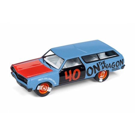 1965 Chevy Chevelle Station Wagon, Powder Blue - Round 2 JLSF009/48A - 1/64 scale Diecast Model Toy Car