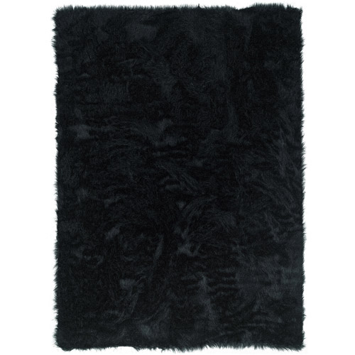 Faux Sheepskin, Black