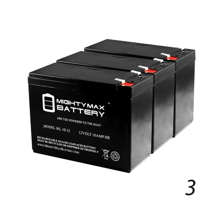 12V 10AH iZip i-750 36V Scooter Battery (REQUIRES 3 BATTERIES) - 3 Pack