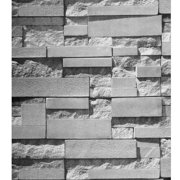 57sq.ft/393.7'' x 21'' Waterproof 3D Effect Stone Brick Wallpaper Wallsticker Bedroom Mural Roll Modern Wall Background Textured for Restaurant Hotel Living Room Removable