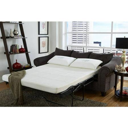 nature 39 s sleep 4 5 sofa sleeper gel memory foam replacement mattress multiple sizes. Black Bedroom Furniture Sets. Home Design Ideas
