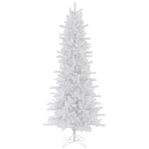 6.5' Slim Crystal White Pine Artificial Christmas Tree - Unlit