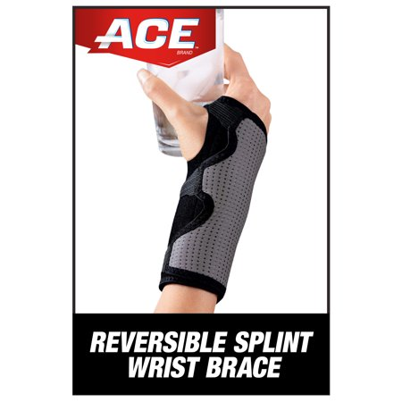 ACE Brand Splint Wrist Brace, Reversible, Adjustable, One Size