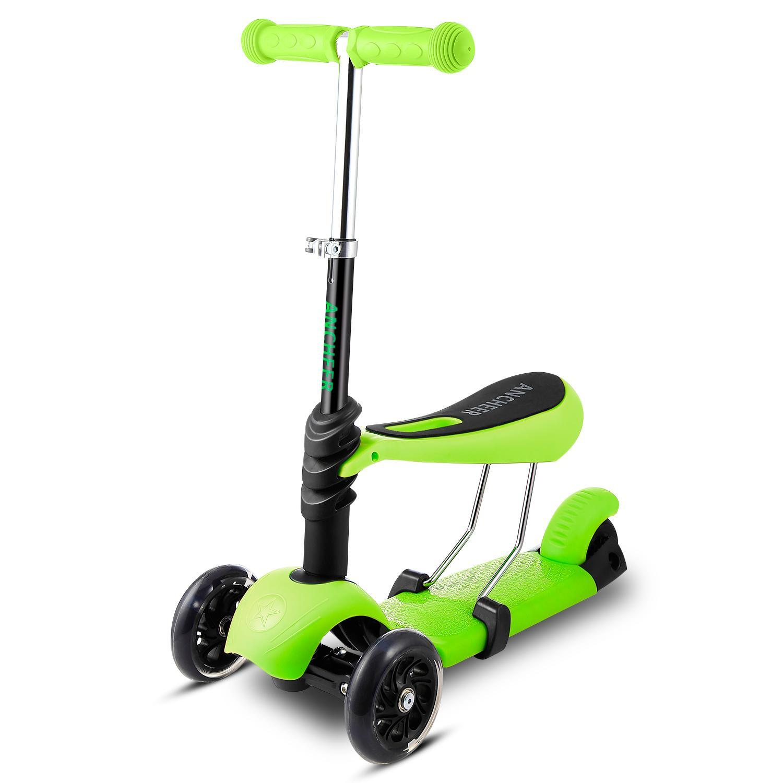 Child 3-Wheel Kick Scooter with Adjustable Handle T-Bar & Seat HFON