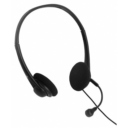 Clearsounds Plastic Telephone Headset, Black; For 2.5mm Audio/Hands Free - Phone Headset Jack