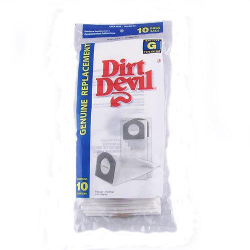 Dirt Devil Type G Vacuum Bags - Genuine - 10 pack - Part # 3-010348-001