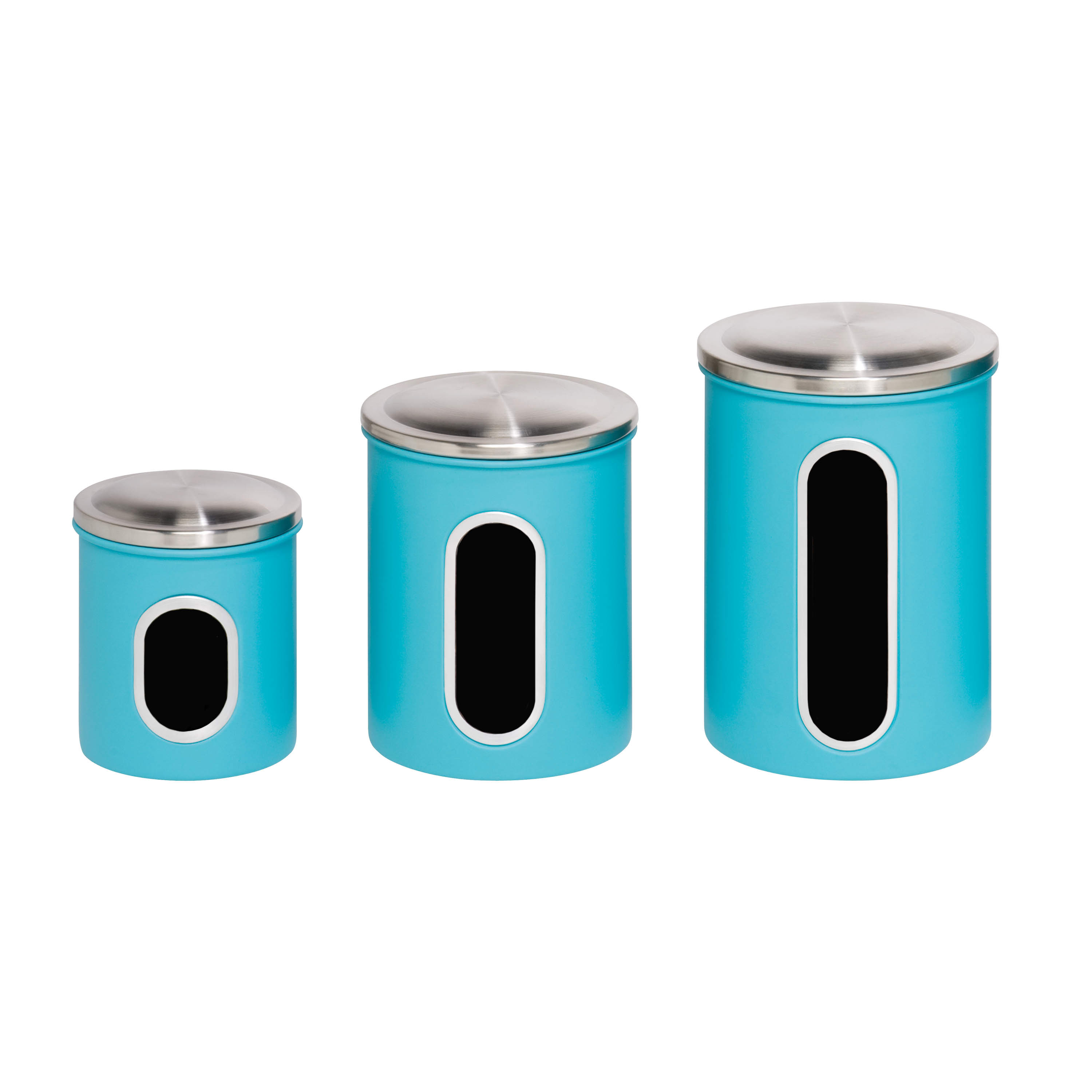 Mainstays 3Pk Metal Storage Canisters, Red - Walmart.com