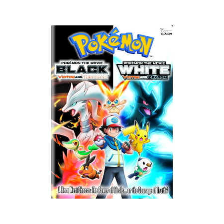 POKEMON THE MOVIE-BLACK-VICTINI & RESHIRAM/WHITE-VICTINI & ZEKROM (DVD) (DVD) - Old Black And White Halloween Movies