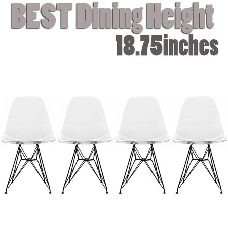 Peachy 2Xhome Set Of 4 Clear Acrylic Transparent Modern Industrial Caraccident5 Cool Chair Designs And Ideas Caraccident5Info