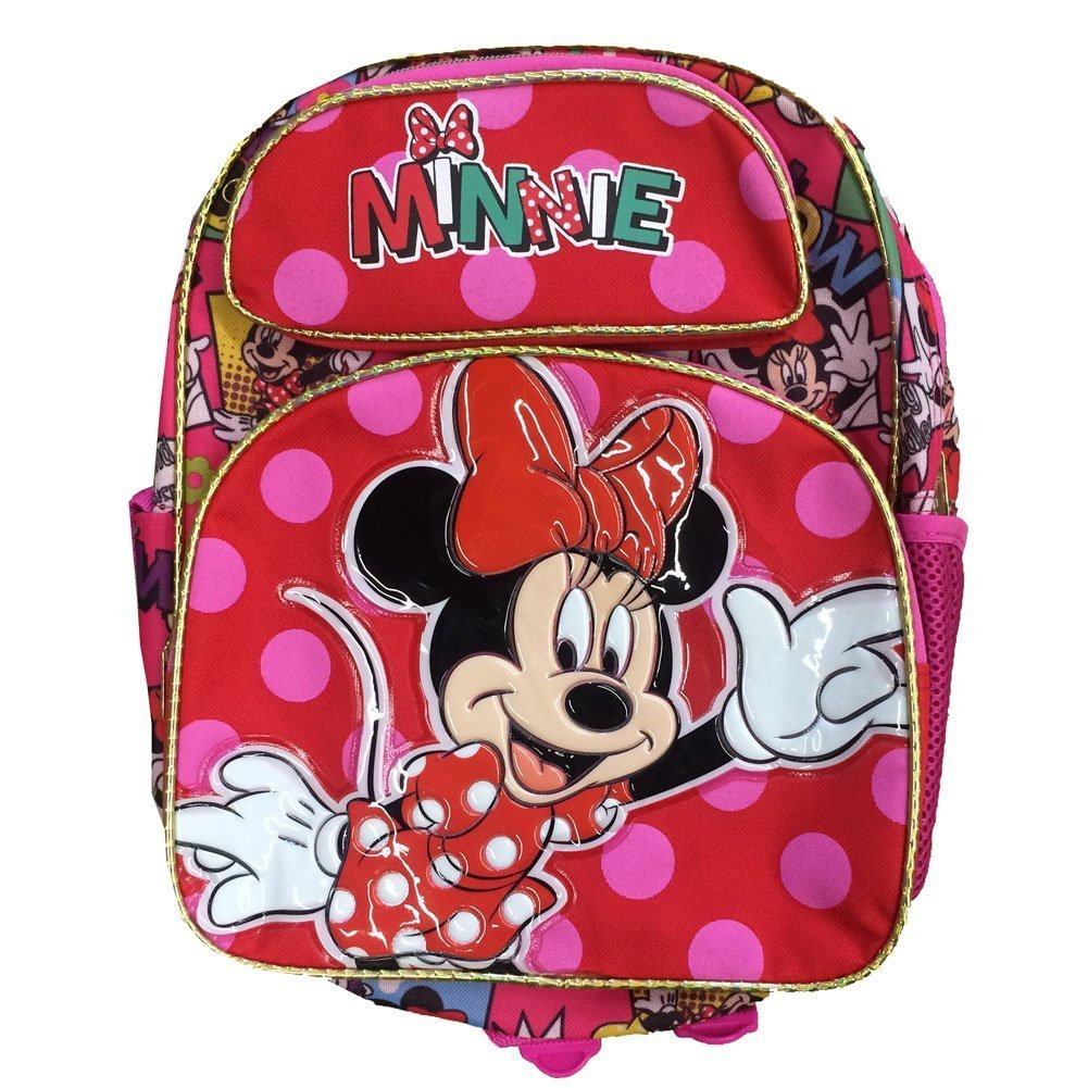 Small Backpack - Disney - Minnie Mouse - Comic Red Pink Cutesy New 636111