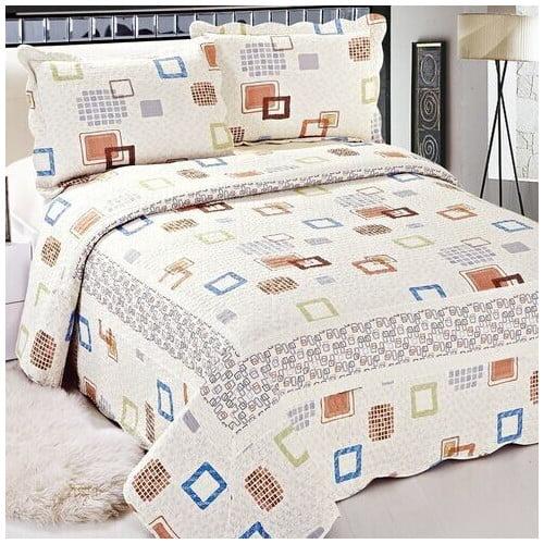 Tache Home Fashion Cotton 3 Pieces Reversible Quilt/Coverlet Set