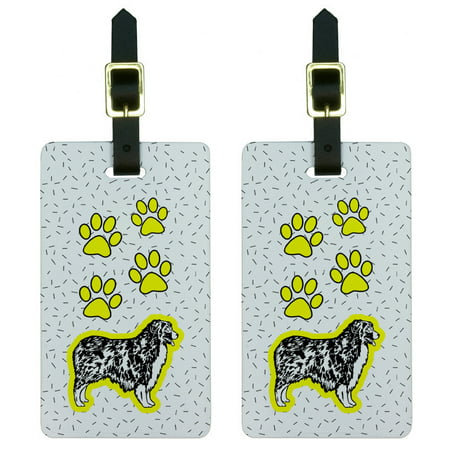 Graphics and More Australian Shepherd Dog of Radiance Luggage Tag Set