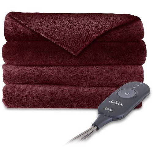 Sunbeam Electric Heated Plush Throw