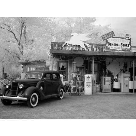Old Car and Gas Pump-Hackberry General Store Photo By Carol Highsmith -  Walmart com