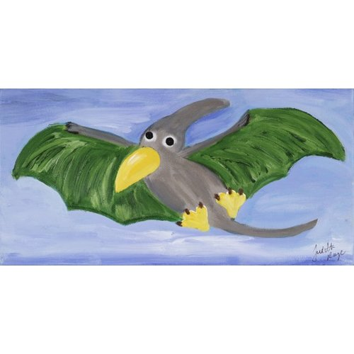 Judith Raye Paintings LLC Pterodactyl by Judith Raye Painting Print