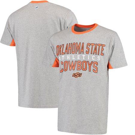 Oklahoma State Cowboys Hands High Cut Back Fashion T-Shirt - Gray