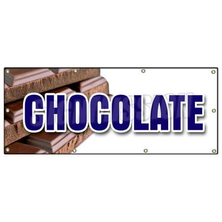 CHOCOLATE BANNER SIGN milk dark semi sweet homemade candy belgium sale](Semi Homemade Halloween)