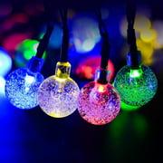 Solar powered christmas lights gzyf 1 set 30 led solar powered bulbs string light crystal ball globe fairy lamps dcor aloadofball Choice Image