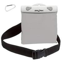 DRY PAK Belt Pack, Nylon, 6 x 5 x 3/4, White/Gray