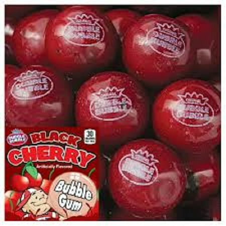 BLACK CHERRY 3LBS DUBBLE BUBBLE GUMBALLS (Very Cherry Bubble)