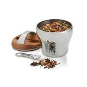 Nambé Bulbo Tea Canister W/Scoop