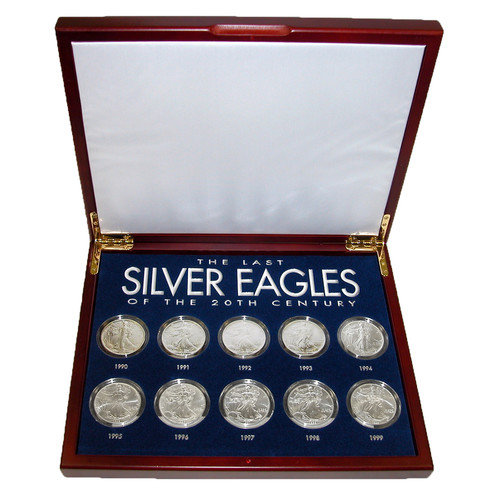 American Coin Treasures The Last Silver Eagles of the 20th Century Display Box