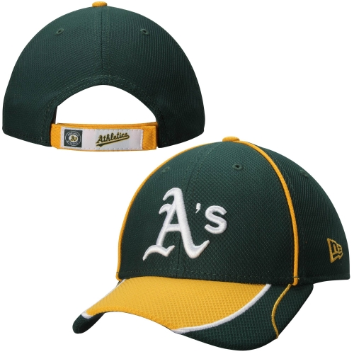 Oakland Athletics New Era Fan Wave 9FORTY Adjustable Hat - Green - OSFA