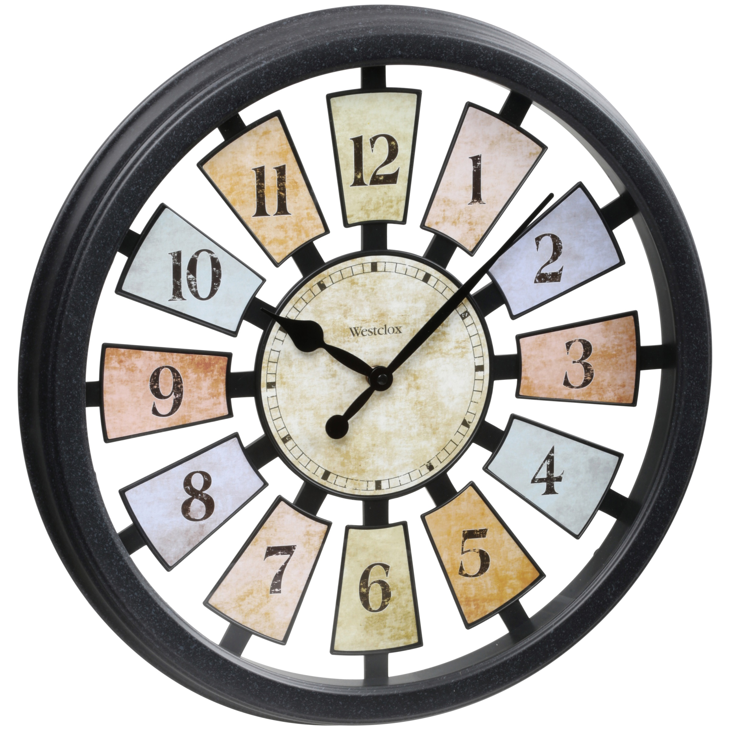 Westclox 174 18 1 2 Quot Quartz Multi Color Wall Clock Style