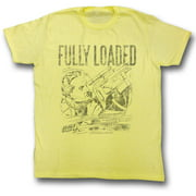Flash Gordon Men's  Fully Loaded Slim Fit T-shirt Yellow Heather