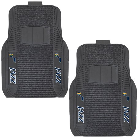 Utah Jazz Two-Piece Deluxe Car Mat Set - No Size