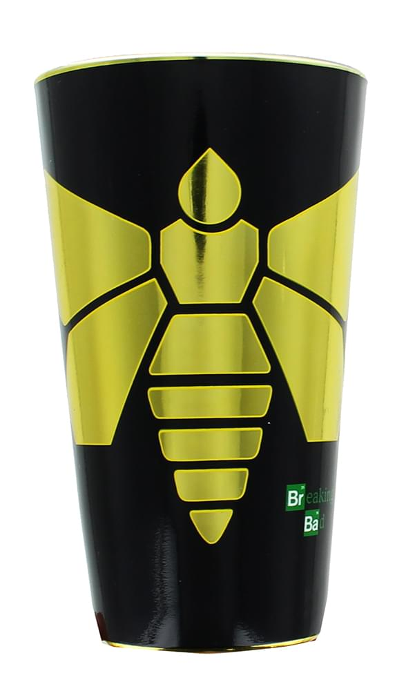 Breaking Bad Yellow Moth 16oz Foil Print Pint Glass by Just Funky