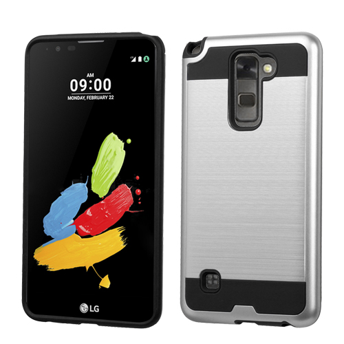 INSTEN  Silicone/ Hard PC Dual Layer Hybrid Rubberized Matte Case Cover For LG G Stylo 2/ Stylus 2