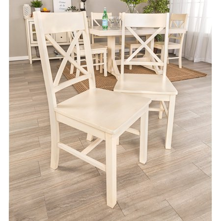 Phenomenal Middlebrook Designs X Back Dining Chairs Antique White Set Of 2 18 X 18 X 39H Ibusinesslaw Wood Chair Design Ideas Ibusinesslaworg
