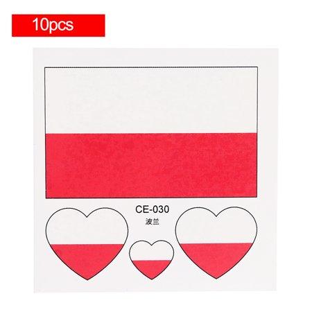 Lv. life 32 Types 2018 World Cup Sticker National Flag Sticker Body Face Arm Temporary Waterproof Tattoo, World cup sticker, Temporary Face Tattoo Sticker (Irish Flag Tattoos)