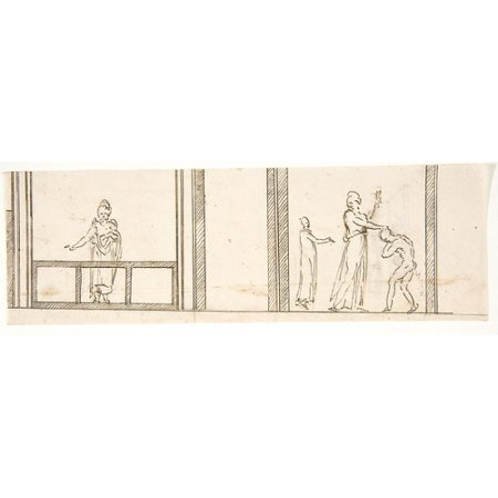 Unidentified building ceiling or wall painted frieze or decorative panels (recto) Unidentified building cornice (verso) Poster Print (18 x 24)