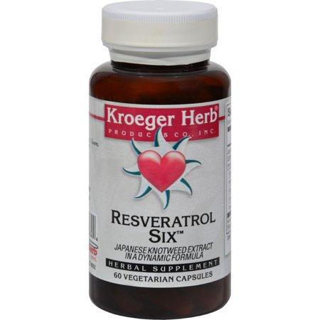 Kroeger Herb Products Kroeger Herb Resveratrol Six, 60 ea